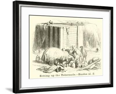 Setting Up the Tabernacle, Exodus, Xl, 2--Framed Giclee Print