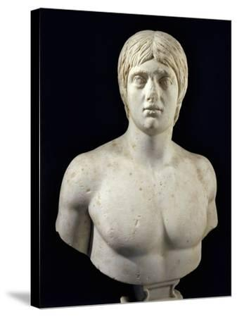 Marble Bust of Young Man--Stretched Canvas Print