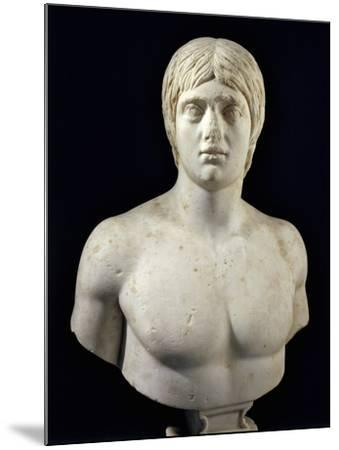 Marble Bust of Young Man--Mounted Giclee Print