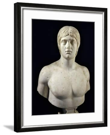 Marble Bust of Young Man--Framed Giclee Print