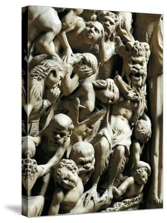 The Damned, Detail from Pulpit-Nicola Pisano-Stretched Canvas Print