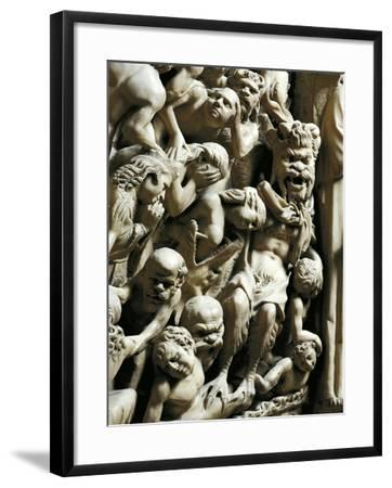 The Damned, Detail from Pulpit-Nicola Pisano-Framed Giclee Print