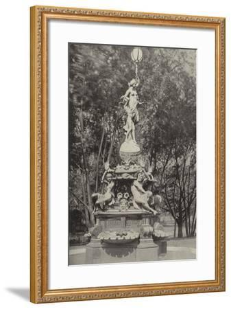The German Fountain--Framed Photographic Print