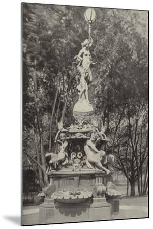 The German Fountain--Mounted Photographic Print