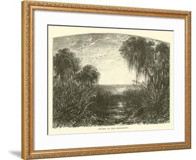 Swamp on the Mississippi--Framed Giclee Print