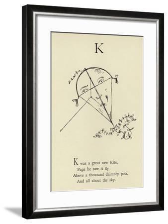 The Letter K-Edward Lear-Framed Giclee Print