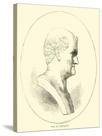 Bust of Vespasian--Stretched Canvas Print