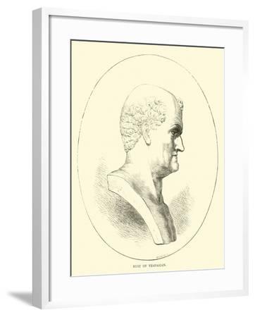 Bust of Vespasian--Framed Giclee Print