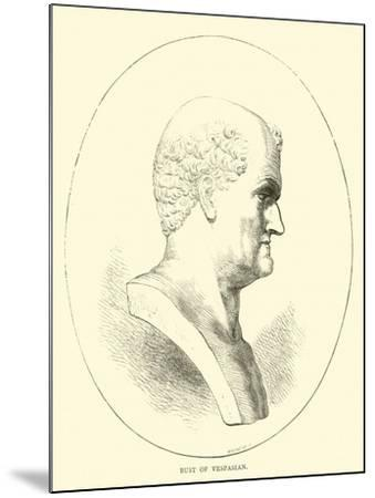 Bust of Vespasian--Mounted Giclee Print