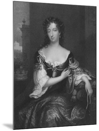 Mary, First Duchess of Devonshire--Mounted Giclee Print