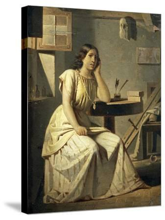 Dejected Art, 1876-Angelo Recchia-Stretched Canvas Print