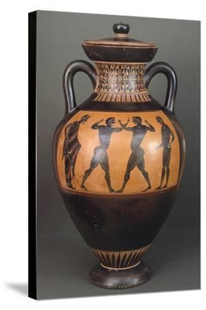 Amphora. Black-Figure Pottery from Vulci--Stretched Canvas Print