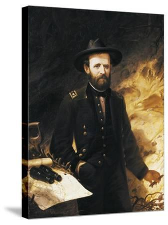 Portrait of Ulysses Simpson Grant--Stretched Canvas Print