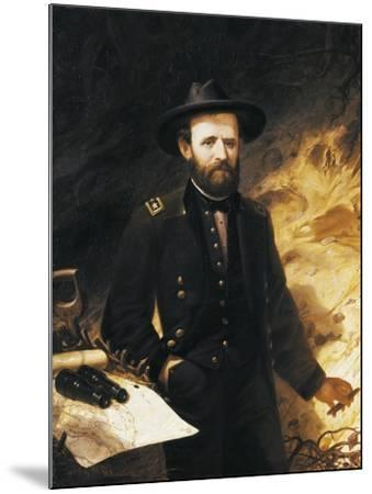 Portrait of Ulysses Simpson Grant--Mounted Giclee Print