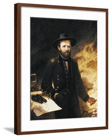 Portrait of Ulysses Simpson Grant--Framed Giclee Print