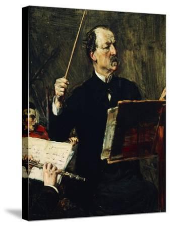 Portrait of Emanuele Muzio--Stretched Canvas Print