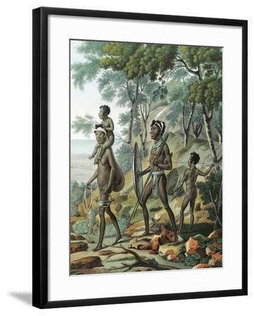 A Native Family at Port Jackson in New Holland--Framed Giclee Print