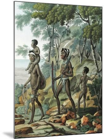 A Native Family at Port Jackson in New Holland--Mounted Giclee Print