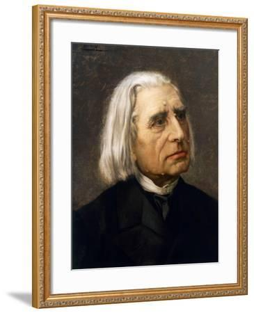 Portrait of Franz Liszt--Framed Giclee Print