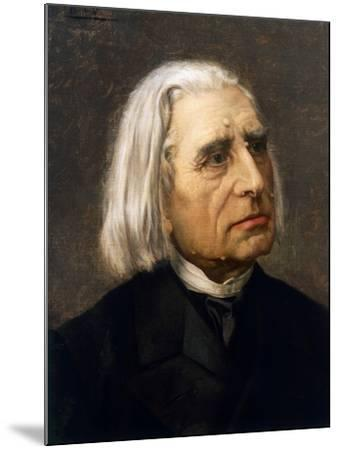 Portrait of Franz Liszt--Mounted Giclee Print