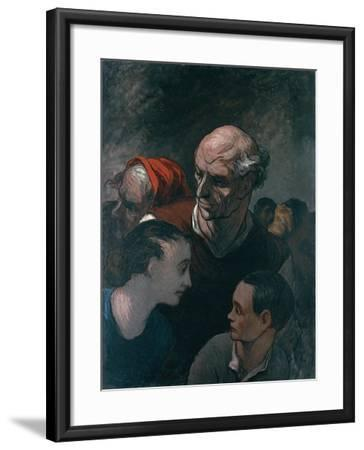 Group of Figures, 1854-Honore Daumier-Framed Giclee Print