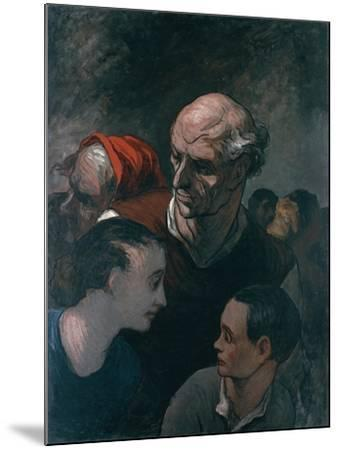 Group of Figures, 1854-Honore Daumier-Mounted Giclee Print