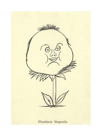Phattfacia Stupenda-Edward Lear-Framed Giclee Print