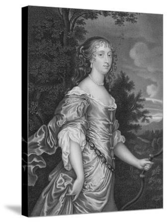 Frances, Duchess of Richmond-Sir Peter Lely-Stretched Canvas Print