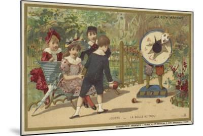 Au Bon Marche Cards Featuring Children's Games--Mounted Giclee Print