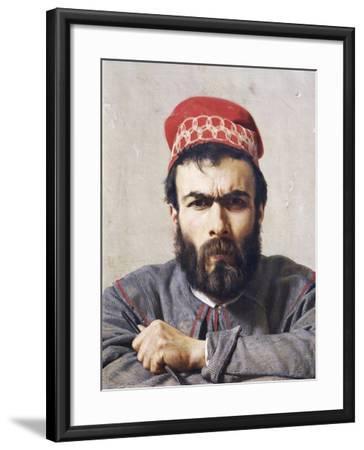 Portrait of Sculptor Emilio Zocchi--Framed Giclee Print