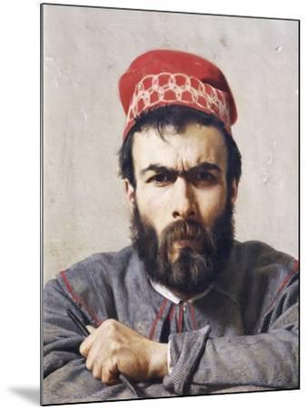 Portrait of Sculptor Emilio Zocchi--Mounted Giclee Print