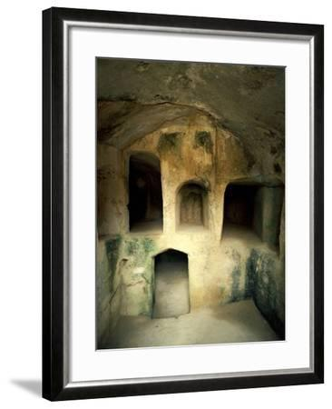 The Royal Tombs at Old Paphos--Framed Photographic Print