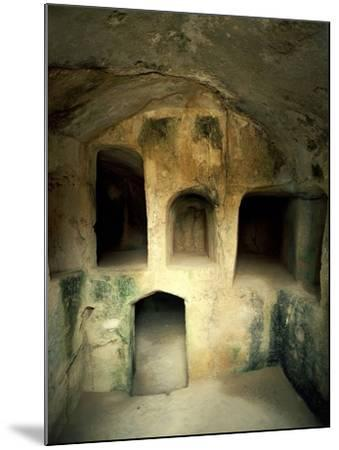 The Royal Tombs at Old Paphos--Mounted Photographic Print