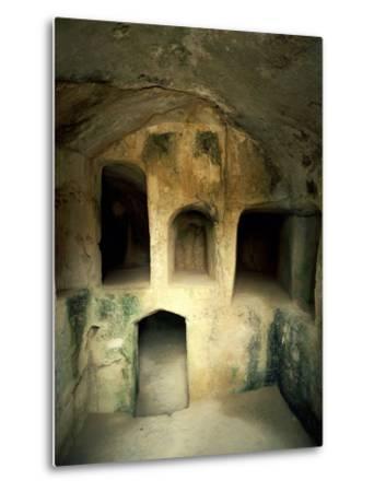 The Royal Tombs at Old Paphos--Metal Print