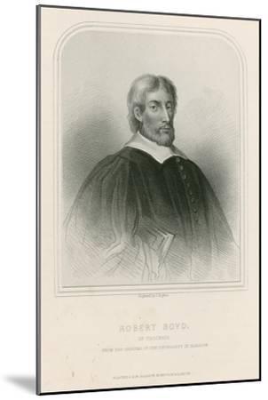 Robert Boyd of Trochrig--Mounted Giclee Print