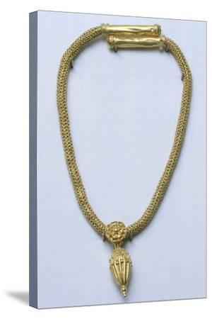 Gold Necklace with Pendant, from Monte Luna--Stretched Canvas Print