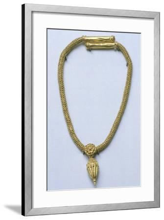 Gold Necklace with Pendant, from Monte Luna--Framed Giclee Print