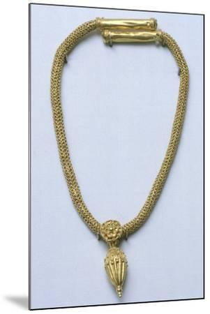 Gold Necklace with Pendant, from Monte Luna--Mounted Giclee Print