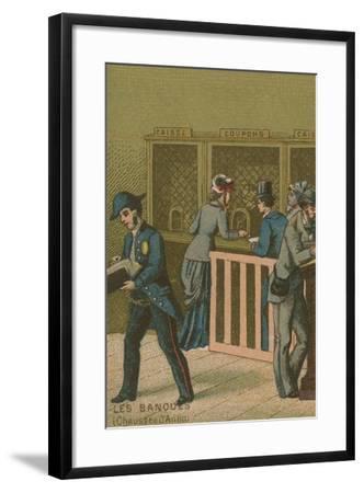 Scene in a Bank--Framed Giclee Print