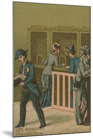 Scene in a Bank--Mounted Giclee Print