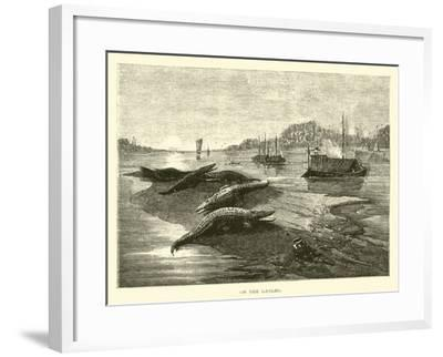 On the Ganges--Framed Giclee Print