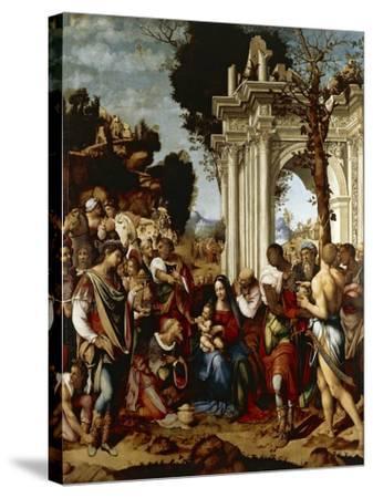Adoration of Magi-Cesare da Sesto-Stretched Canvas Print