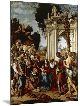 Adoration of Magi-Cesare da Sesto-Mounted Giclee Print