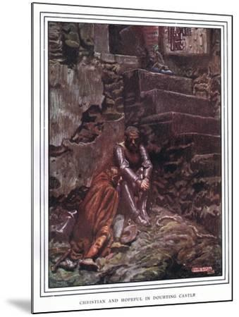Christian and Hopeful in Doubting Castle-John Byam Liston Shaw-Mounted Giclee Print