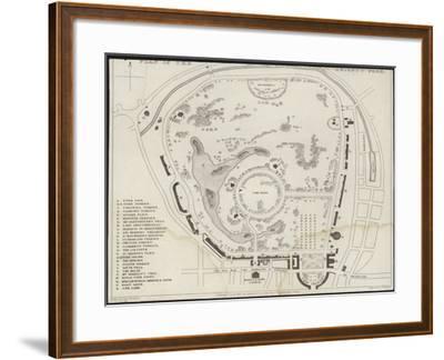 Map of Regent's Park-Thomas Hosmer Shepherd-Framed Giclee Print