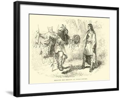 Medicine Men Deriding an Indian Convert--Framed Giclee Print