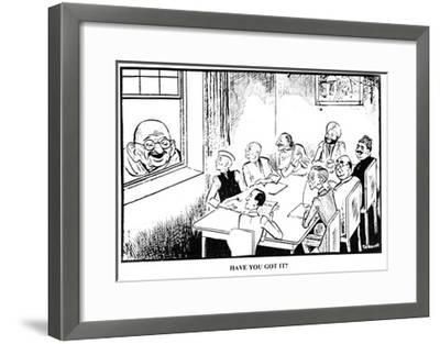 'Have You Got It?', Hindusthan Times, 1947--Framed Giclee Print