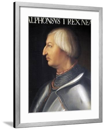 Portrait of Alfonso V of Aragon--Framed Giclee Print