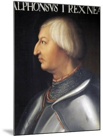 Portrait of Alfonso V of Aragon--Mounted Giclee Print