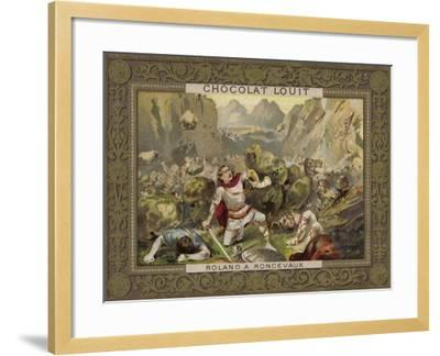 Roland at Roncevaux--Framed Giclee Print